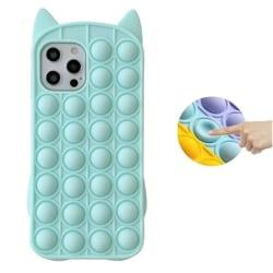 Katt Pop it Fidget Multicolor Skal till iPhone iPhone 7/8/SE (20