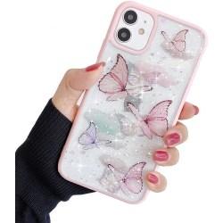 Bling Star Butterfly Skal till iPhone 11 - Rosa