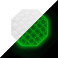 Pop it Fidget Sensory Leksak - Självlysande - Oktogon - Vit