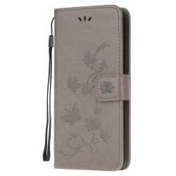 Butterfly Plånboksfodral Samsung Galaxy A12 - Grå