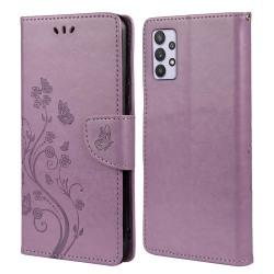 Butterfly Plånboksfodral Samsung Galaxy A32 5G - Lila