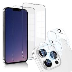 iPhone 13 Pro [4-PACK] 2 X Linsskydd Glas + 2 X Härdat Glas