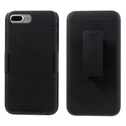 Belt Clip Kickstand Stand Skal till Apple iPhone 7 Plus - Svart