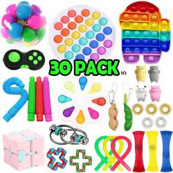 30 Pack Fidget Toy Set Pop it Sensory Toy för Vuxna & Barn multifärg