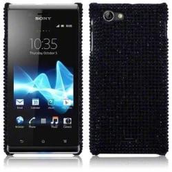 Bling Bling skal till Sony Xperia J ST26i (Svart)