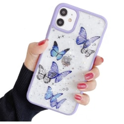 Bling Star Butterfly Skal till iPhone 12 Mini - Lila