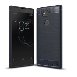 Carbon Brushed Mobilskal till Sony Xperia L2 - Blå