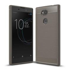 Carbon Brushed Mobilskal till Sony Xperia L2 - Grå