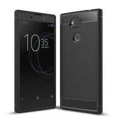Carbon Brushed Mobilskal till Sony Xperia L2 - Svart