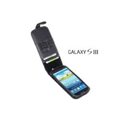 Exklusiv Äkta Läder flip mobilväska till Samsung Galaxy S3 i9300