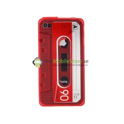 FlexiCase Skal till iPhone 4 - Kassett (Red)