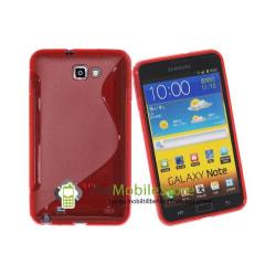 FlexiCase Skal till Samsung Galaxy Note (Röd)