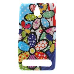 FlexiSkal till Sony Xperia E1 - Färgglada Blommor