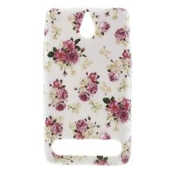 FlexiSkal till Sony Xperia E1 - Rosa Blommor