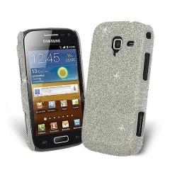 Glitter Skal till Samsung Galaxy Ace 2 i8160 - Silver + Skärmsky