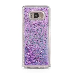 Glitter Skal till Samsung Galaxy S8 Plus -  Lila