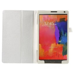 Litchi Book fodral till Samsung Galaxy Tab S 8,4 (Vit)