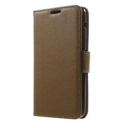 Litchi Plånboksfodral till Sony Xperia E4 - Brun