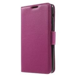 Litchi Plånboksfodral till Sony Xperia E4 - Magenta