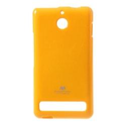 Mercury Glittery FlexiSkal till Sony Xperia E1 - (Gul)