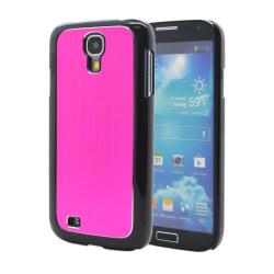 Metal Brushed Baksideskal till Samsung Galaxy S4 i9500 - (Magent