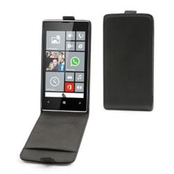 Muvit Slim Flip väska till Nokia Lumia 520 (Svart) + Displayskyd