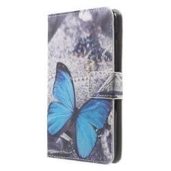 Plånboksfodral till Sony Xperia E4 - Blå Fjäril