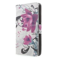 Plånboksfodral till Sony Xperia E4 - Red Flower