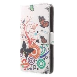 Plånboksfodral till Sony Xperia E4 - Three Butterflies