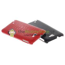 Protective Croco Baksideskal till Samsung Galaxy Note i9220 (RÖD