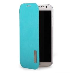 Rock Elegant Flip väska till Samsung Galaxy S4 i9500 (Ljus Blå)