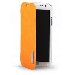 Rock Elegant Flip väska till Samsung Galaxy S4 i9500 (Orange)