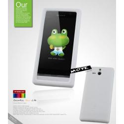 Seepoo Move Silikonskal till Sony Xperia U + Skärmskydd (Vit)