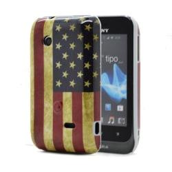 Skal till Sony Xperia Tipo ST21i - Amerikanska Flaggan