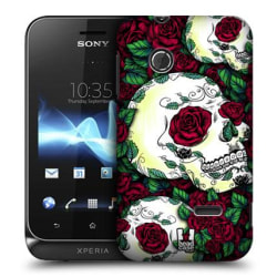 Skal till Sony Xperia Tipo ST21i - Döskalle och Rosor