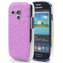 Sparkle Baksideskal tillSamsung Galaxy S3 mini i8190 (Lila)
