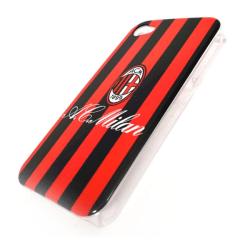 Milan Iphone 4/4S Skal Hårt Stripe Svart/Rött