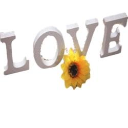 1 st fristående träbokstäver - vitt alfabet för bröllops- Default Title