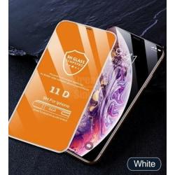 11d böjt kantskyddsglas på iphone härdat For iPhone 6 6S Plus White