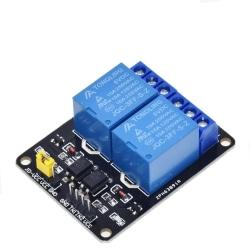 Kanalrelämodul med optokopplingsutgång för arduino 5V  2 channel relay