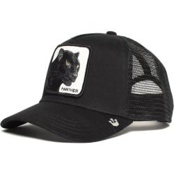 Panther mesh mössa svart trucker pappa hatt / nät snapback panther