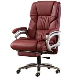 Kontor soffa boss spelstol med fotstöd ligger ergonomi red no footrest