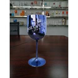 Runda champagnekupéer - cocktailglas med plätering blue