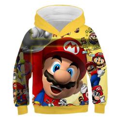 3D tecknad tryck mjuk hoodie tröja för pojke flicka set-2 B 100