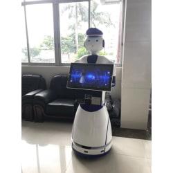 Säkerhetsvakt poliser robot humanoid ansiktsigenkänning robot