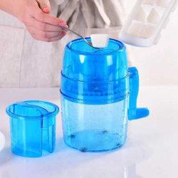 Bärbar handvev manuell iskross (blå)