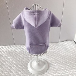Höst vinter husdjur hund kläder för hundar hoodie Purple XS 0-1.5KG