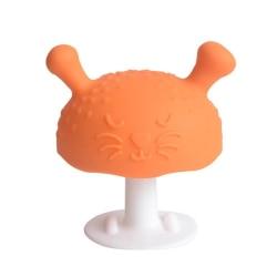 Baby pojke / flicka tandvård silikon baby ömma tandkött Orange