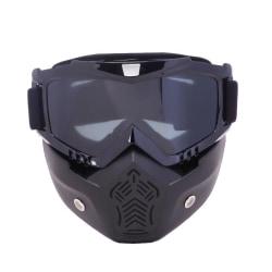 Vuxna flexibla och avtagbara skyddsglasögon för näs- och S054 Gray Lens