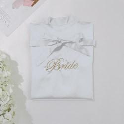 Brud kort badrock badklänning Bride - white M